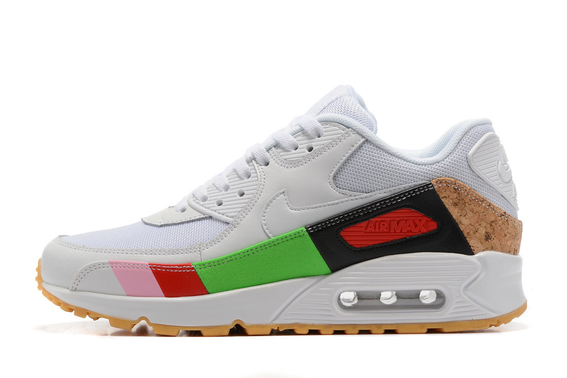 5e5f96f3d182 Nike Air Max 90 Air Max Day 537384 002 White Colorful Running Shoe For Sale